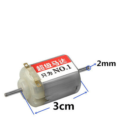 DC3V 27000RPM F130 Motor High Speed Magnetic Double Shaft For DIY Toy Racing Car