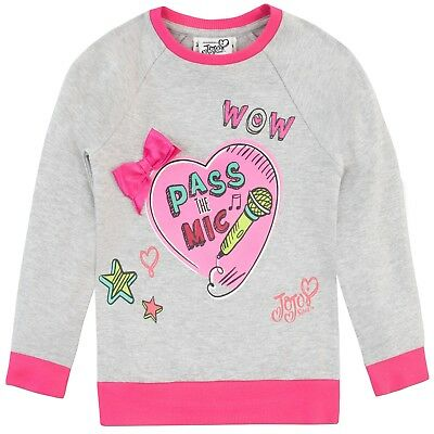 f4395fbddf40f JOJO SIWA GIRLS Jumper Top Grey Shoulder LAST ONE Age 12-13 Years ...