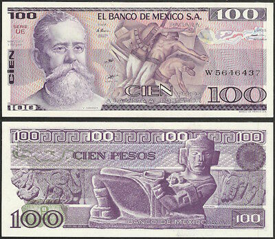 MEXICO - 100 pesos 1981 P# 74a UNC America banknote - Edelweiss Coins