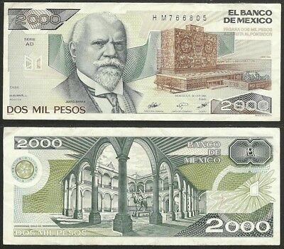 MEXICO - 2000 pesos 1984 P# 82c America banknote - Edelweiss Coins