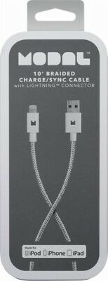 Modal - 10' Lightning USB Charging Cable - White - Brand New