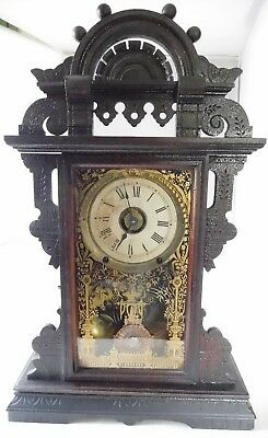 Antique Large Seth Thomas No. M.1408 Kitchen Clock With Alarm Made In Usa, 8 Day