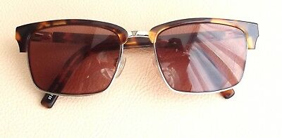 FRENCH CONNECTION Brown Tortoise Shell/Steel Half Rim Spectacles Frames 5000075