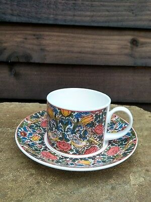 Dunoon Fine Bone China William Morris Rose Cup and Saucer VGC
