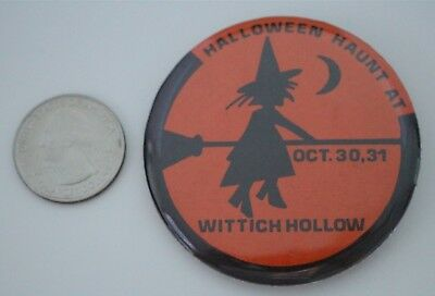 Halloween Haunt At Wittich Hollow Wisconsin Pin Pinback Button #28160