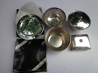 Mixed Lot of Silver Plate Items