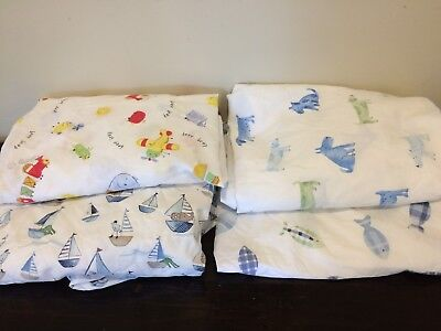 Lot of Pottery Barn  Kids crib sheets bedding