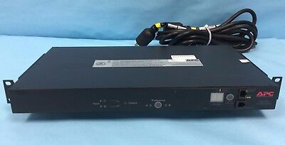 APC AP7752 Rack ATS 20A 10-Outlet 120V Rack-mount Transfer Switch AP 7752