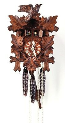 Music Clock Music Man with Zither and Cuckoo 3.0070.01.C NEW