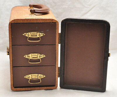 VTG Barnett Jaffe Suitcase Style 3 Drawer Slide Case Box
