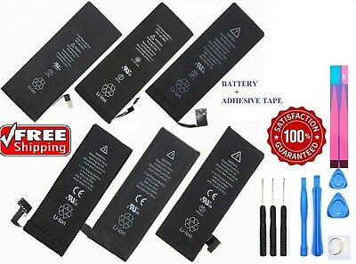 New Replacement Internal Battery for iPhone 4 4S 5 5C 5S SE 6 6S 7 + Tape Lot