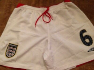 Umbro England Football Womens Number 6 Match Worn Shorts Size 16 3 Lions/england