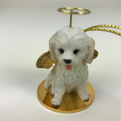 Cockapoo white dog ornament Tiny Ones Conversation Concepts new