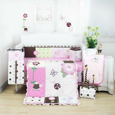 Beautiful Cot Bedding Liner Set (8 Pcs)