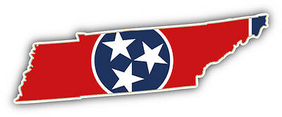 Tennessee USA State Map Flag Car Bumper Sticker Decal 6'' x 2''
