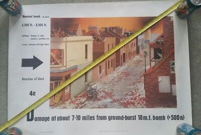 8 Rare UK Cold War Civil Defence Atom Bomb Nuclear War Damage Posters Threads