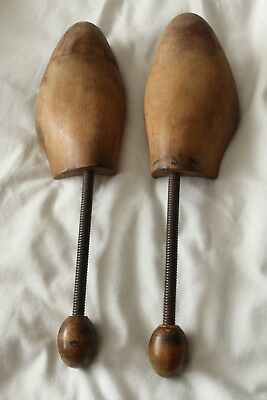 Vintage wood and metal shoe trees shapers for men's shoes