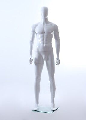 New Matte White Male Mannequin