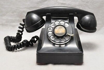 Antique Western Electric Bell System 1930s Black Rotary Telephone