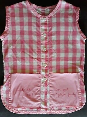 "Vintage Retro Smock Apron pockets say "" look at me!  I'm just "" plain purty"""
