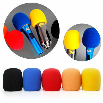 10pcs Colorful Sponge Foam Mic Cover for Microphone Headset Grill Windscreen