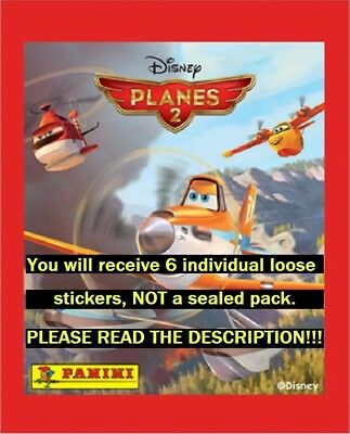 Six (6) Disney Planes 2 Panini Collection Stickers