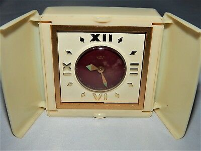 Smiths Empire Travel Clock With Watch Movement In Plastic Case