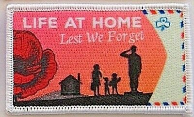 """2018 Girl Guides ANZAC Badge """"Life at Home"""", 4th in series, perfect condition"""