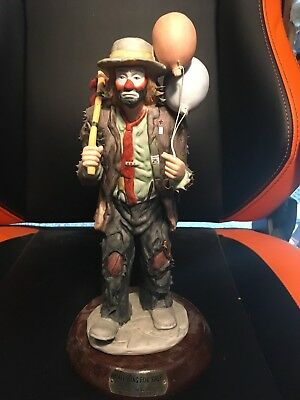 """Flambro Emmett Kelly Jr. Balloons For Sale Limited Edition 7,626 Of 10,000 11"""""""