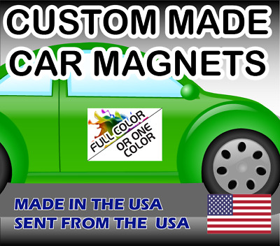 Qty Two (2) - Custom Made Car Magnet Magnetic Auto Truck Signs One or Full Color