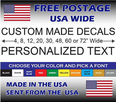 Custom Personalized Decal Sticker Vinyl Lettering Car Bike Boat Mailbox Wall