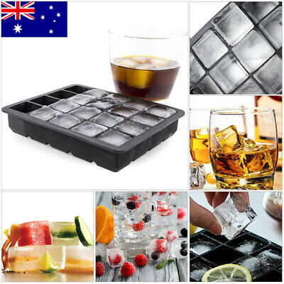 AU Big 15 Giant Jumbo Large Size Silicone Ice Cube Mold Square Tray Mould DIY