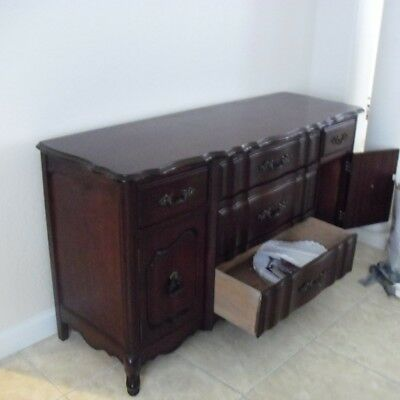 1960's Bassett Vintage Dining Room Table & Sideboard French Provincial style