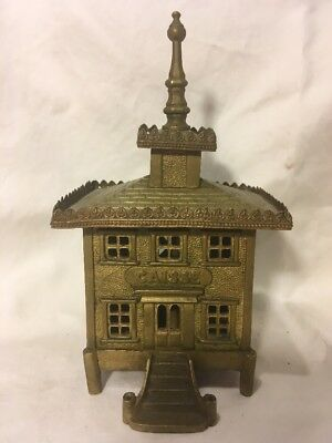 Caisse Brass Still Bank Late 19th Century