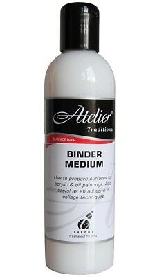 Atelier Traditional BINDER MEDIUM 250ml Surface Prep for Acrylics/Oil Paintings