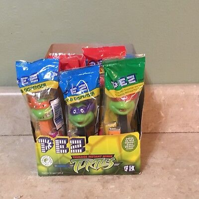 New Pez 12 teenage Mutant Ninja Turtle Pez With Candy And Poly Pack