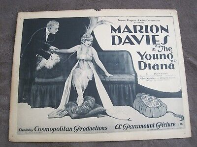 RARE 1922 title Lobby Card The Young Diana Marion Davies