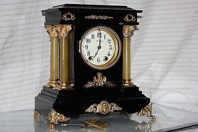 ANTIQUE SETH THOMAS SHELF MANTLE CLOCK-Totally!!-Restored- c//1900- - Model