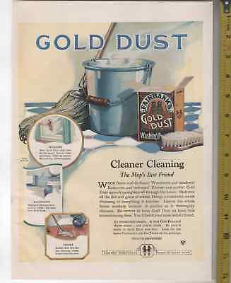 1903 & 1922 Gold Dust Twins Black America Color 11 x 14 inch large ads 2 AD LOT
