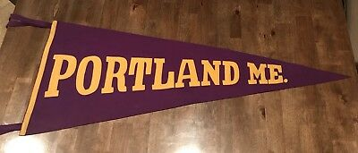 "Large Old Portland Maine Pennant - 34"" Long"