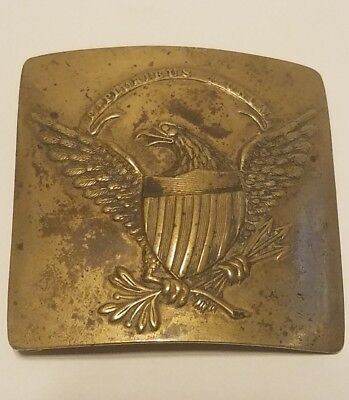 RARE CIVIL WAR MILITIA BELT BUCKLE  EAGLE DESIGN -BRASS POSSIBLY PRE CIVIL1820s
