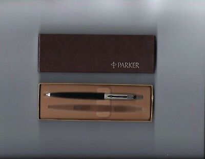 Vintage Parker 0.5 mm Black Mechanical Pencil W/Brass Threads-NOS In Box W/Logo