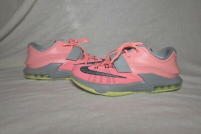 the latest 7c5fb 3b0e9 Nike Air KD 7 VI 35000 Degrees Pink Grey Volt Neon Sneakers Women s Size 8