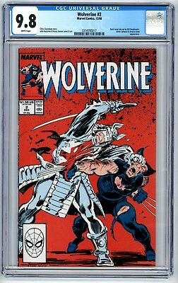 Wolverine #2 CGC 9.8 Back Cover Pin-Up by Bill Sienkiewicz