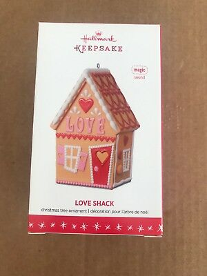 Rare New 2016 Hallmark Love Shack With Magic Sound Christmas Ornament - Gorgeous
