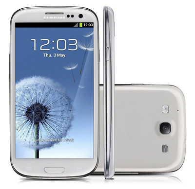 "Unlocked Smartphone 4.8"" Samsung Galaxy S3 I9300 3G GSRM Android 16GB 8MP -White"
