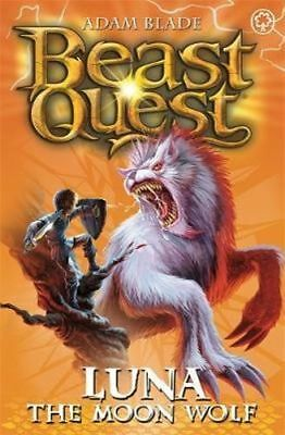 NEW Luna the Moon Wolf : Beast Quest The Amulet Of Avantia Series By Adam Blade
