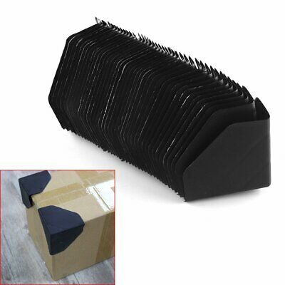 "40Pcs 3"" Black Plastic Packing Corner Protector Shipping Edge Cover"