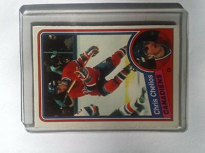 Chris Chelios @ Montreal Canadiens rookie card 1984-85 OPC #259 NM ungraded