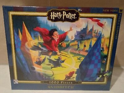 Rare Harry Potter 'quidditch' 1000 Pc Jigsaw Puzzle # Made In The Usa 26' X 19'